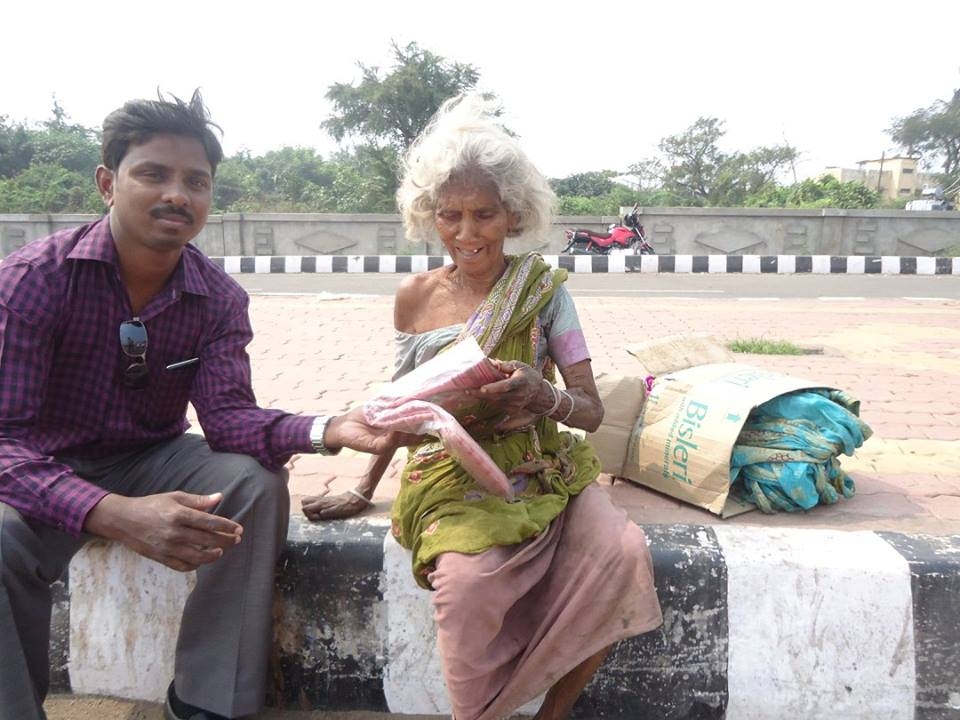 Blessing a blanket for a widow,who is on the road